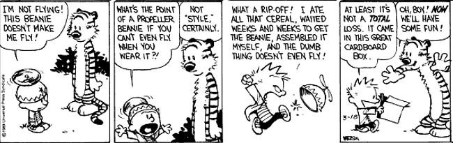 Calin and Hobbes comic.