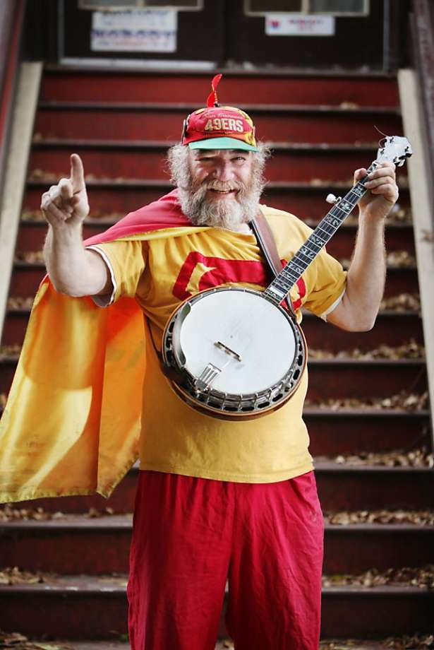 Stacy Samuels, founder of Interstellar Propeller, in his banjo man outfit.